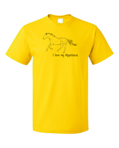 Standard Yellow I Love my Appaloosa - Horse Lover Appaloosa Breed Favorite T-shirt