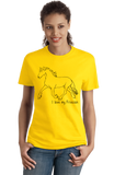 Ladies Yellow I Love my Friesian - Horse Lover Friesian Breed Cute Unique T-shirt