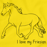 I Love My Friesian | Horse Lover Yellow art preview