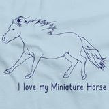 I Love My Miniature Horse | Horse Lover Light blue art preview