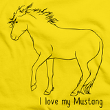 I Love My Mustang | Horse Lover Yellow art preview