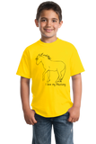 Youth Yellow I Love my Mustang - Horse Lover Mustang Breed Cute Gift T-shirt