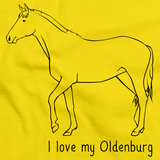 I Love My Oldenburg | Horse Lover Yellow art preview