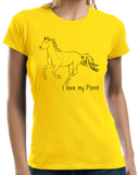 Ladies Yellow I Love my Paint - Horse Lover Paint Fan Breed Cute Gift Fun T-shirt