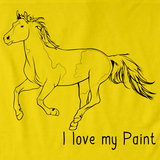 I Love My Paint | Horse Lover Yellow art preview