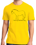 Standard Yellow I Love my Shetland Pony - Horse Lover Shetland Pony Cute Fun T-shirt