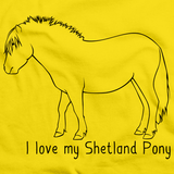 I Love My Shetland Pony | Horse Lover Yellow art preview