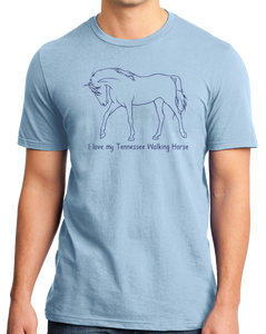 Standard Light Blue I Love my Tennessee Walking Horse - Horse Love Tennessee Walking T-shirt