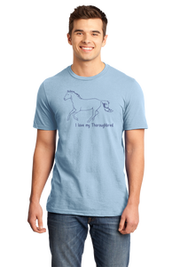 Standard Light Blue I Love my Thoroughbred - Horse Lover Thoroughbred Cute Hipster T-shirt