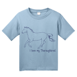Youth Light Blue I Love my Thoroughbred - Horse Lover Thoroughbred Cute Hipster T-shirt