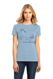 Ladies Light Blue I Love my Welsh Pony And Cob - Horse Lover Welsh Pony Cute Cob T-shirt
