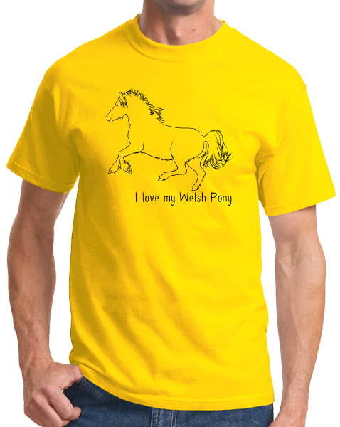 Standard Yellow I Love my Welsh Pony And Cob - Horse Lover Welsh Pony Cute Cob T-shirt