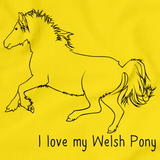 I Love My Welsh Pony and Cob | Horse Lover Yellow art preview
