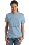 Ladies Light Blue American Saddlebreds are People, Too!- Love American Saddlebreds T-shirt