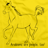 Arabians Are People, Too! | Horse Lover Yellow art preview