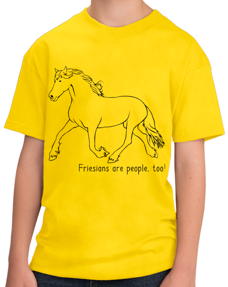 Youth Yellow Friesians are People, Too! - Horse Lover Friesians Cute T-shirt