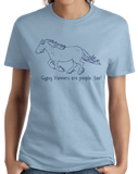Ladies Light Blue Gypsy Vanners are People, Too! - Horse Lover Gypsy Vanner Cute T-shirt