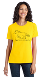 Ladies Yellow Gypsy Vanners are People, Too! - Horse Lover Gypsy Vanner Cute T-shirt