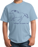 Youth Light Blue Haflingers are People, Too! - Horse Lover Haflingers Cute T-shirt