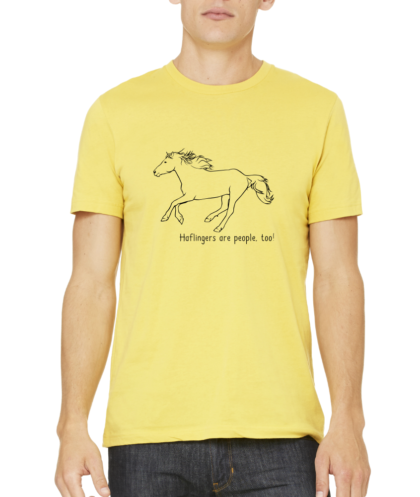 Standard Yellow Haflingers are People, Too! - Horse Lover Haflingers Cute T-shirt