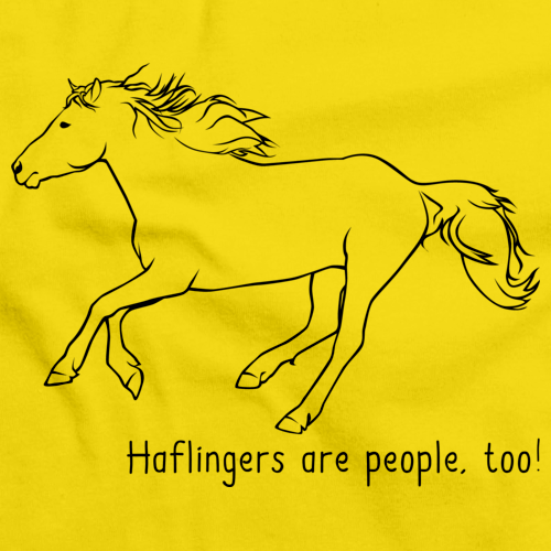 Haflingers Are People, Too! | Horse Lover Yellow art preview