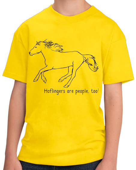 Youth Yellow Haflingers are People, Too! - Horse Lover Haflingers Cute T-shirt