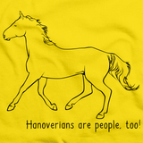 Hanoverians Are People, Too! | Horse Lover Yellow art preview