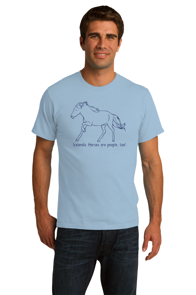 Standard Light Blue Icelandic Horses are People, Too! - Horse Lover Icelandic Cute T-shirt