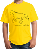 Youth Yellow Lusitanos are People, Too! - Horse Lover Lusitano Cute Gift T-shirt