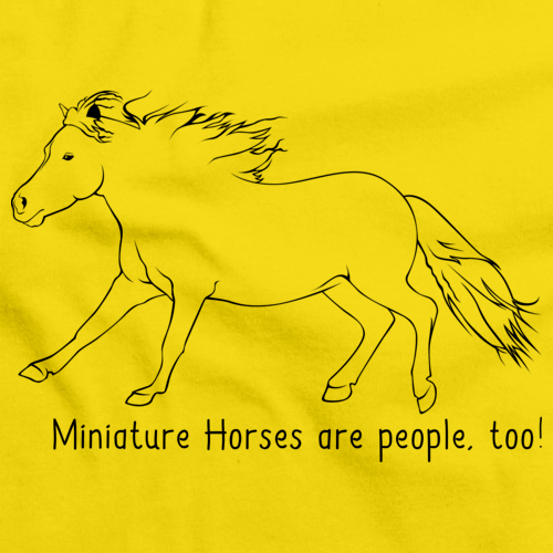 Miniature Horses Are People, Too! | Horse Lover Yellow Art Preview