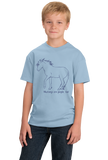 Youth Light Blue Mustangs are People, Too! - Horse Lover Mustang Cute Gift T-shirt