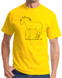 Standard Yellow Mustangs are People, Too! - Horse Lover Mustang Cute Gift T-shirt