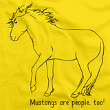Mustangs Are People, Too! | Horse Lover Yellow art preview