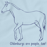 Oldenburgs Are People, Too! | Horse Lover Light blue art preview