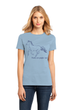 Ladies Light Blue Paints are People, Too! - Horse Lover Paints Cute Gift Fun T-shirt