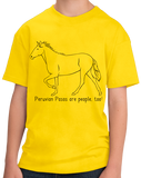 Youth Yellow Peruvian Pasos are People, Too! - Horse Lover Peruvian Paso Cute T-shirt
