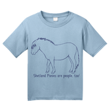 Youth Light Blue Shetland Ponies are People, Too! - Horse Love Shetland Pony Cute T-shirt