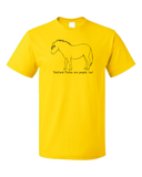Standard Yellow Shetland Ponies are People, Too! - Horse Love Shetland Pony Cute T-shirt