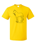 Standard Yellow Shires are People, Too! - Horses Love Squires Cute Fun Ride T-shirt