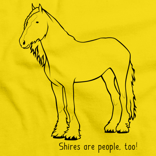 Shires Are People, Too! | Horse Lover Yellow Art Preview