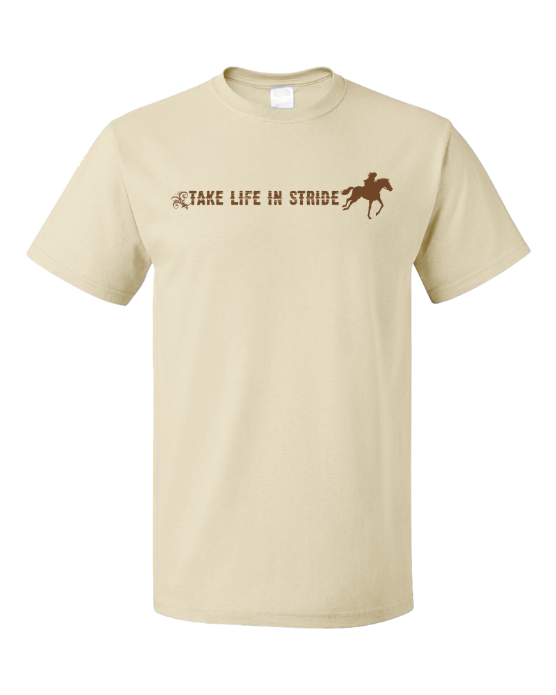 Standard Natural Take Life In Stride - Western Horseback Riding Motto Cute T-shirt