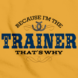 Because I'm The Trainer, That's Why | Horse Train Gold art preview