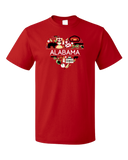 Standard Red Alabama Love - Cute Alabama Heritage Culture Pride Fun Symbols T-shirt