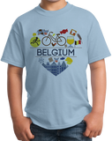 Youth Light Blue Belgium Love - Belgian Heritage Pride Culture Cute Gift T-shirt