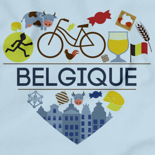 I Heart Belgique | Belgian Light blue art preview