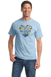 Standard Light Blue Belgique Love - Belgian Pride Culture Belgique Cute Icons T-shirt