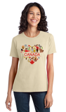 Ladies Natural Canada Love- Canadian Pride Culture Heritage Cute Symbols Gift T-shirt