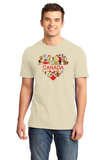 Standard Natural Canada Love- Canadian Pride Culture Heritage Cute Symbols Gift T-shirt