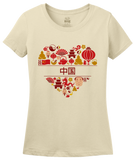 Ladies Natural China Love [Characters] - Chinese Pride Culture Characters Cute T-shirt