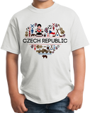 Youth White Czech Republic Love - Czech Prague Culture Heritage Pride Gift T-shirt
